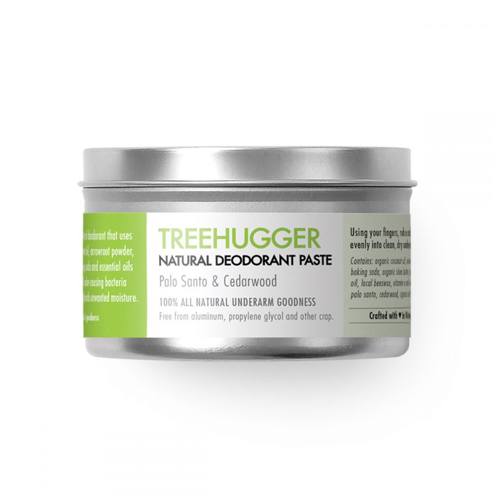Natural Deodorant with Palo Santo and Cedarwood - Treehugger - Chemical free. Aluminum Free. Paraben Free. Made in Canada.